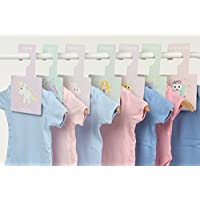 Baby Wardrobe Dividers - Daydreams | Pack of 8 Hangers to Organise Clothes by Size (Daydreams)