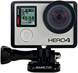 Sametop Frame Mount Housing with Protective Lens and Lens Cover for GoPro Hero 4, Hero 3+, Hero 3 Cameras