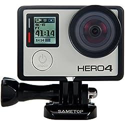 Sametop Frame Cadre Monture avec Objectif de Protection et Capuchons Compatible avec GoPro Hero 4, Hero 3+, Hero 3 Caméra Sport