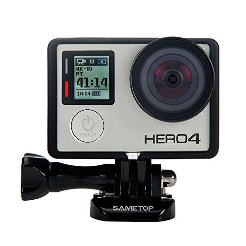 Sametop Rahmenhalterung Gehäuse Rahmen mit Objektivschutz und Lens Cap Kompatibel mit GoPro Hero 4, Hero 3+, Hero 3 Kameras -