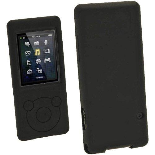 iGadgitz Black Silicone Skin Case Cover for Sony Walkman NWZ-E473 NWZ-E474 NWZ-E574 NWZ-E575 E Series Video MP3 Player 4gb 8gb 16gb + Screen Protector (NWZ-E474B  available at amazon for Rs.1779