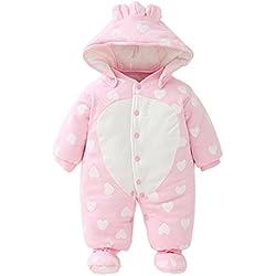 Vine Bebés de los muchachos mameluco Recién nacido Calentar Juego del cuerpo Otoño invierno Infantil Buzos Equipar, 0-3 Meses
