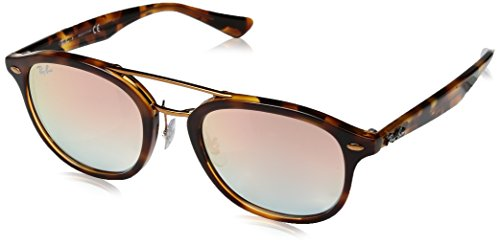 RAYBAN JUNIOR Unisex-Erwachsene Sonnenbrille RB2183, Top Havana Yellow Brown/Greengradientbrownmirrorpi, 53