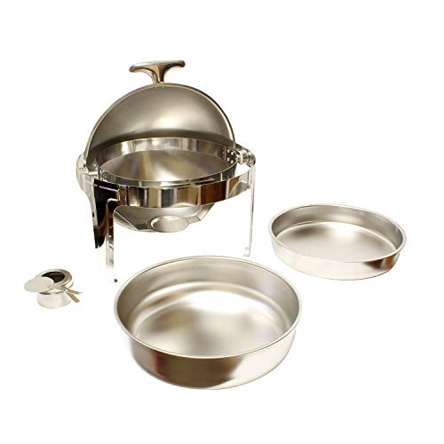 Lot45 teiliges Chafing Dish Buffet Set - 6 Qt Round Chaffing Dish Buffet Set Edelstahl Chafer Set rund Catering Tabletten Buffet Chafers