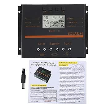 Display LCD solare professionale 80V 24V Auto 80A PWM Regolatore di carica solare Regolatore di carica pannello solare