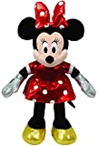 TY 90171 - Disney - Minnie Glitter mit Sound, rotes glitzerndes Kleid und Schleife, 30 cm