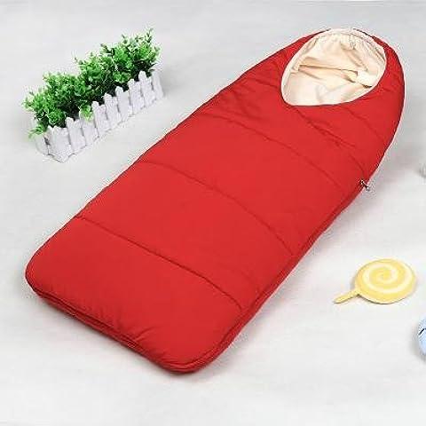 Saco de dormir bebe sleeping bag baby Otoño y el invierno espesan el dormir del bebé recién nacido suministros niño recién nacido está llevando a cabo contra las mantas Tipi al bebé recién nacido , red
