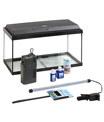 Dehner Aqua Aquarium Starterset 60, ca. 60 x 30 x 32 cm, inkl. Futter und Pflegeprodukten