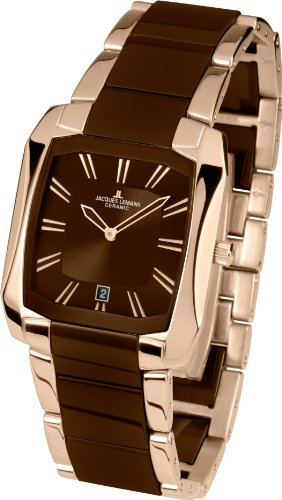 Jacques Lemans Jagged Boss Women's Analogue Watch with black Dial Analogue Display and Stainless steel plated