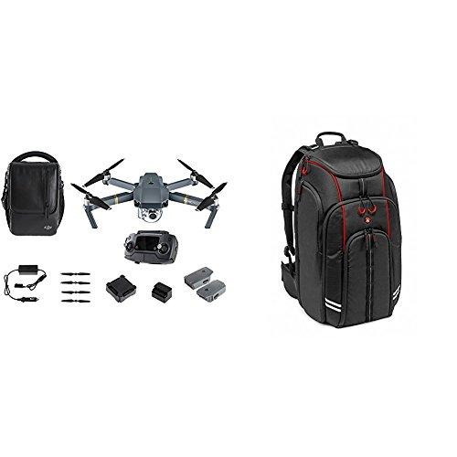 DJI Mavic Pro Fly More Combo - Cuadricóptero (4K/30 fps, 12 Mp, 27 minutos, 2.4 GHz), color gris + Manfrotto MFMBBP-D1 - Mochila para drones DJI