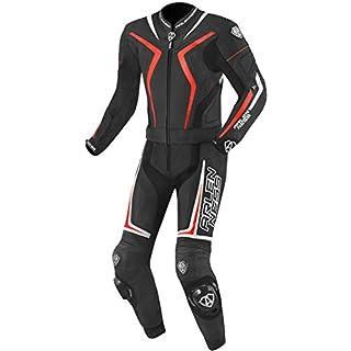 Arlen Ness Torres 2-Teiler Motorrad Lederkombi Schwarz/Rot 54
