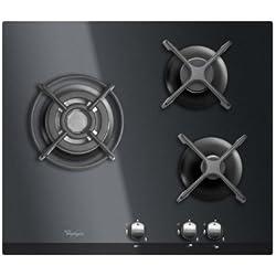 Whirlpool AKT 404 N Table de Cuisson Gaz 56 cm Noir