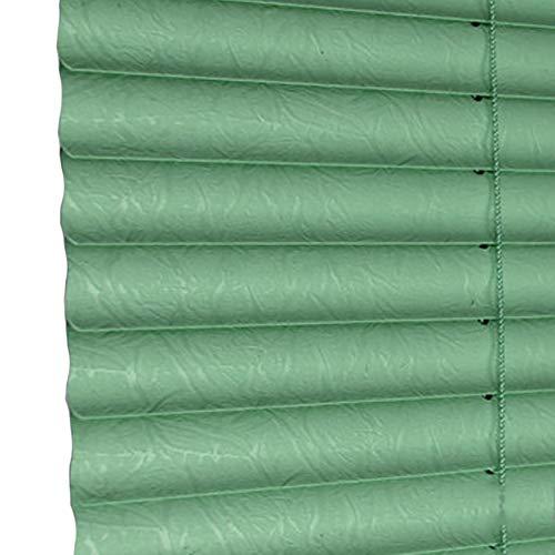 Mini tenda in pvc verde, tapparelle per finestre orizzontali per la casa/cucina/ufficio/soggiorno, installazione senza foratura (colore : verde, dimensioni : 100(w) x175(h) cm)