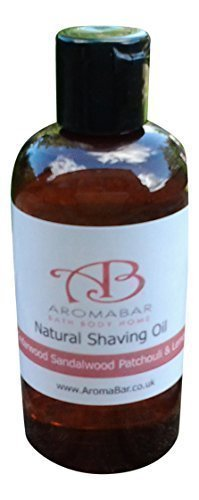 Natural Shaving Oil Cedarwood Sandalwood Patchouli & Lemon 125ml (100 Cedar öl)