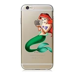 Disney Minions transparente in poliuretano termoplastico per iPhone-Cover per iPhone 5,5S, 5C,6/6S,6+,iphone7 plastica(iphone 6/6s,Ariel)