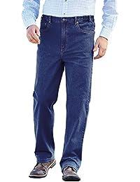 Pegasus Mens Elasticated Stretch Waist Cotton Stonewash Jeans