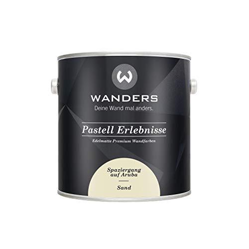 Wanders24 Pastell Erlebnisse (2,5 Liter, Sand) edelmatte Wandfarbe in 40 Farbtönen für individuelle Gestaltung, Made in Germany