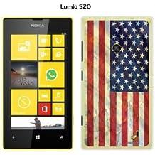 Buzzebizz - Carcasa para Nokia Lumia 520 diseño de bandera de Estados Unidos