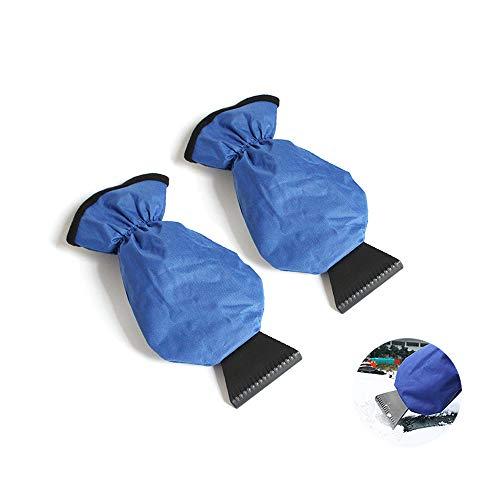 Donpow Raschietto per Ghiaccio per Auto con Guanto di Spazzola, Guanti Impermeabili per Raschietto Parabrezza Parabrezza Parabrezza Auto (Rosso), Blu