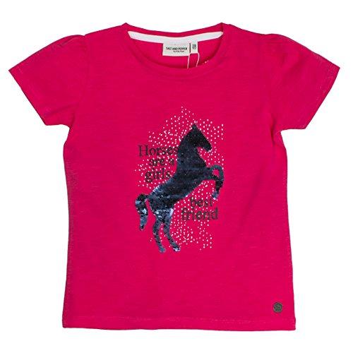 Salt & Pepper Girl's Horses Uni Sequins T-Shirt