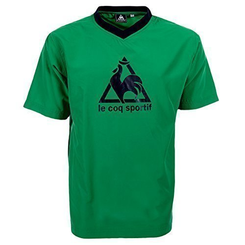 Le Coq Sportif-Maglietta sportiva da uomo verde/nero s