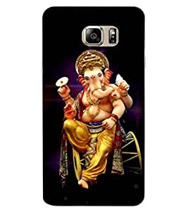 ColourCraft Lord Ganesha Design Back Case Cover for SAMSUNG GALAXY NOTE 6