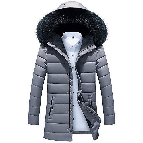 Setsail Herren Bequemes Top Herbst Winter Jacke Herrentel Outwear Slim Long Trench Zipper Caps Coat Canvas Trench Coat