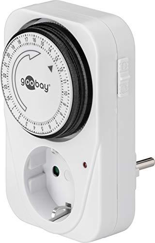Wentronic 51276 - Temporizador analógico 24 h con enchufe, color blanco [importado de Alemania]