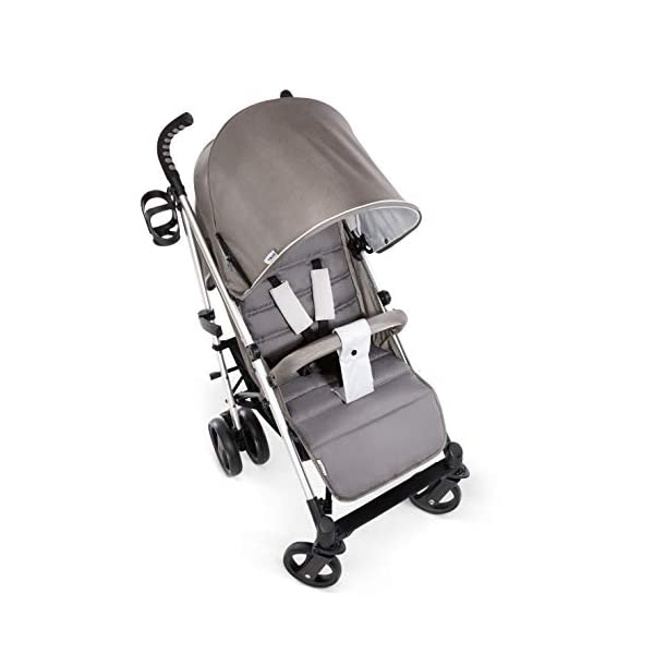Hauck Vegas, Lightweight Pushchair with Lying Position, from Birth to 25 kg, Buggy with Cup Holder, Umbrella Fold Pushchair, Charcoal Hauck Easy folding - this comfort stroller can be folded away extra flatly making it suitable for almost any car boot; the buggy on travels and family trips Long use - this modern pushchair can be used for a long period of time: It is suitable From birth up to 25 kg Comfortable - with backrest and footrest adjustable into lying position, extendable hood with UV protection, soft padding, suspension, swivelling front wheels and ergonomically shaped push handles 4