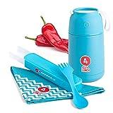 ALL4LUNCH Warmhaltebox 650ml | Die Innovative Warmhalte-Behälter inkl. Besteck-Set - hält 10 Stunden heiß und 20 Stunden kalt - BPA-frei - von Baby-Nahrung bis Mittagessen