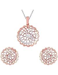 TBZ - The Original 18KT Rose Gold and Diamond Jewellery Set for Women