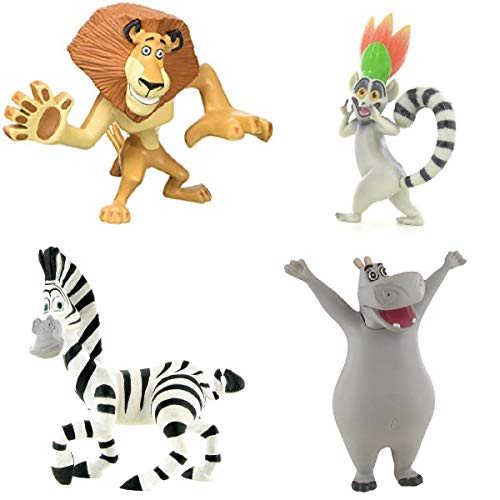(Price Toys Madagaskar Mini Figur Spielzeug - Alex, Marty, König Julien und die Pinguine (Alex / Marty / Gloria / König Julien))