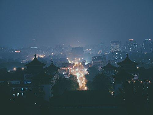 Lais Alu-Dibond Asiatische Stadt bei Nacht