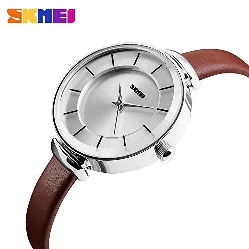 ZJP-Watch Elektronische Uhr Damen wasserdichte Quarzuhr schlanke, minimalistische Retro Gürteluhr Persönlichkeit kompakte Mode Uhr Mode-Accessoires (Color : 3) -