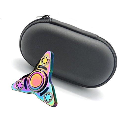 Preisvergleich Produktbild Webla Geschenk für Fidget Hand Spinner Dreieck Finger Spielzeug Focus ADHD Autismus Tasche Box Tragetasche Packet