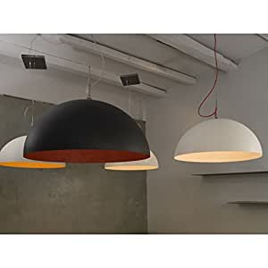 In-es.artdesign IN-ES0501BI-R Mezza Luna 1 Suspension Blanc/Rouge