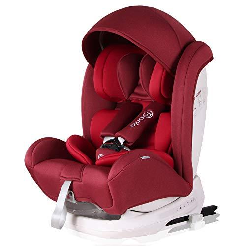 Bonio Seggiolino Auto Gruppo 1/2/3 (9-36 kg) ISOFIX Reclinabile ECE R44/04 Rosso