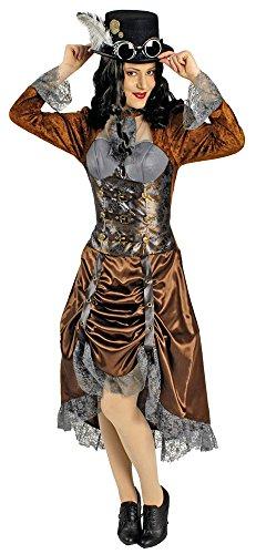 Steampunk Miss Eliza Kostüm für Damen Gr. 36 (Viktorianisches Kleid Steampunk)