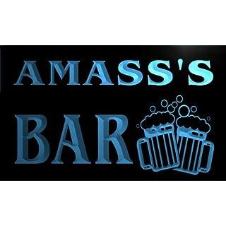 w147118-b AMASS Name Home Bar Pub Beer Mugs Cheers Neon Light Sign