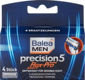 Balea MEN Rasierklingen precision5 Flex-Pro, 1 Packung mit 4 Stück
