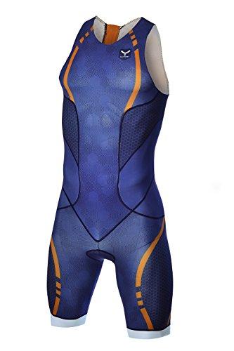 TAYMORY Swim Run Singe de triathlon T150, homme, bleu, S