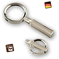 Handgearbeitete Metall-Klapplupe Made in Germany