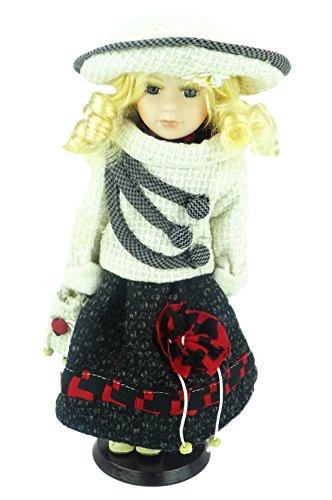 431cd5e660b7 Shannon Bambola in porcellana La Collezione Look   Design Vintage (Vestito  in Plaid Giallo (