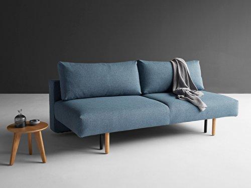 Schlafsofa Frode Sofa Couch Bett Schlafcouch Bettfunktion Klappsofa Schlaffunktion Bettsofa Funktionssofa Sofabett Gästebett Jugendbett 3-Sitzer - Innovation Design, Bezug:565 Textil Granite Twist