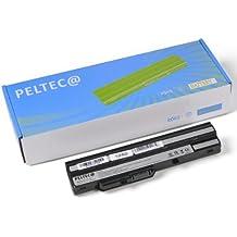 PELTEC@ - Batería de repuesto para portátil Medion Akoya Mini E1210 E-1210 U100 BTY-S11 BTY-S12 (4400 mAh), color negro