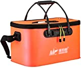 Secchio pieghevole La pesca pieghevole Secchio con coperchio multi-funzione Portable serbatoio di acqua di campeggio escursione di pesca colore arancione Multi-Formato facoltativo (Dimensioni: 45 * 25
