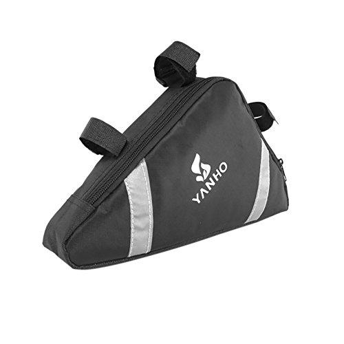 Cocohot Wasserdichte Front Frame Head Triangle Storage Pouch Fahrrad Taschen Schwarz