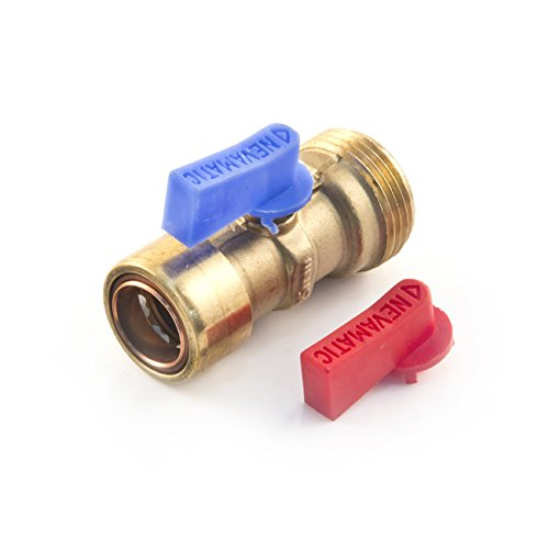 cuprofit für PushFit Waschmaschine Rückschlagventil 15mm x 3/10,2cm BSP Kugel Hebel Isolieren Isolation Absperrhahn, 1x Valves, 1 (Waschmaschine Isolation)