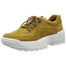 MARCO TOZZI Women's 2-2-23732-33 Low-Top Sneakers, Yellow (Mustard 606), 7.5 UK