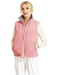 RAIKOU Damen Flausch Weste Freizeitjacke zum wenden Micro Velours Reversible House Vest Wendejacke